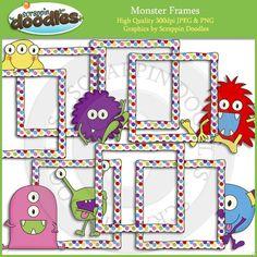Monster Frames Clip Art Download Monster Classroom, Classroom Ideas, Frame Clipart, Png Format, High Quality Images, Language Arts, 2nd Birthday, Art For Kids, Kindergarten
