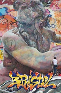 Beautiful Giant Murals Of Greek Gods By Pichi Avo BlazePress - Beautiful giant murals greek gods pichi avo