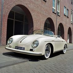 Breathtaking!!!  Porsche 356  My aunt let me borrow her Porsche for a week while I was in college....I never quite got over my crush!!