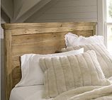 Reclaimed wood headboard might go with current dresser. Mason Wood Headboard & Dresser Set, Full, Wax Pine finish