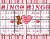 Valentine Printable Bingo Game - INSTANT DOWNLOAD - 30 different Bingo cards - Valentine's Day Party Game - Pin Stripes Valentine Games, Valentine Crafts For Kids, Valentines Day Party, Be My Valentine, Kids Crafts, Valentine's Day Party Games, Party Themes, Printable Bingo Games, Vendor Events