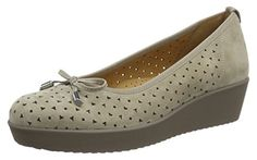 Gabor Shoes Damen Comfort Geschlossene Ballerinas, Beige (Visone 33), 41 EU - Ballerinas für frauen (*Partner-Link) Gabor Shoes, Partner, Comfortable Shoes, Wedges, Best Deals, Link, Fashion, Shopping, Moda