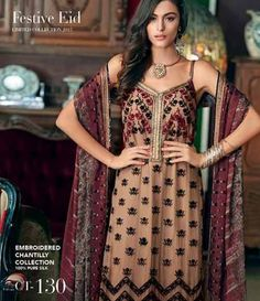 Gul Ahmed Chantilly de Chiffon festive collection CT-130