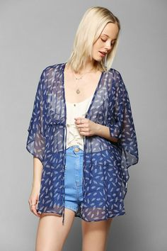 Pins And Needles Cinched Kimono Jacket #urbanoutfitters