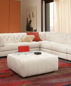 Rosario Leather Modular Living Room Furniture Collection with Sets & Pieces