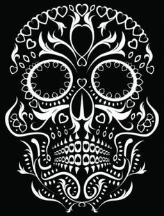 Illustration about Skull design featuring floral Day of the Dead style patterns. Illustration of artwork, pattern, mexican - 16693446 Dragon Tattoo With Skull, Day Of The Dead Skull Tattoo, Catrina Tattoo, Totenkopf Tattoos, Sugar Skull Art, Sugar Skulls, Sugar Skull Costume, Sugar Skull Halloween, Cool Halloween Makeup
