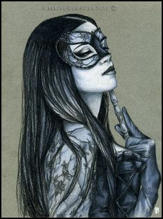 Midnight Masquerade - portrait by RossanaCastellino.deviantart.com on @DeviantArt
