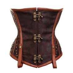 238 - Brown Steampunk Style Underbust Corset - 2012 Collection!