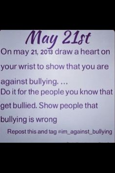 EVERYONE PLEASE DO THIS!!! Repost, reblog, repin, retweet, anything! Comment and like to say you're going to do this! #im_against_bullying