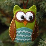 Felt owl ornament #sewing #DIY #crafts