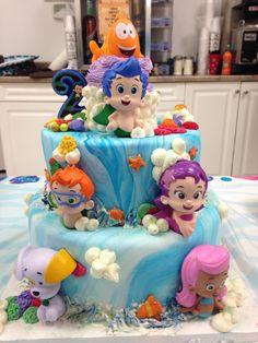 Bubble Guppies Cake My favorite Bubble Guppies Birthday Cake, Bubble Birthday Parties, Bubble Guppies Party, 4th Birthday Cakes, Birthday Party Celebration, Birthday Ideas, Ideas Decoracion Cumpleaños, Cupcakes Fondant, Minnie Mouse