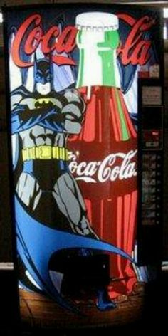 Coca Cola Batman vending machine...
