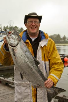 A beautiful Chinook salmon caught at the Canadian Princess