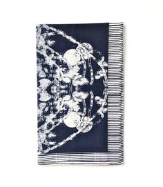 Black Grand Roco Medallion Tea Towel | HeartHabits Deliciously Beautiful Things to Wear and Home Decor.
