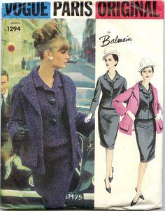 1960s Vogue Paris Original 1294 Balmain Jacket by GreyDogVintage, $90.00