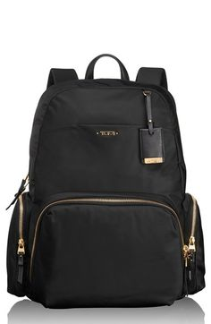 Free shipping and returns on Tumi Calais Nylon 15 Inch Computer Commuter Backpack at Nordstrom.com. Streamlined, sophisticated design lends smart elegance to a versatile backpack crafted from lightweight, durable nylon for long-lasting use. A profusion of interior pockets lets you organize your laptop, electronics and personal accessories with care, while exterior pockets are perfect for stashing fast-access items—making the practical, pretty style ideal for business, travel and everyday…