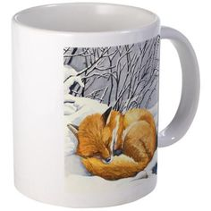 CafePress - Sleepy Red Fox Mugs - Unique Coffee Mug, 11oz Coffee Cup * Stop everything and read more details here! : Coffee Mugs