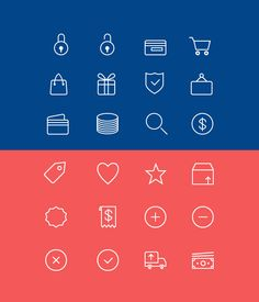 24 Ecommerce Line Icons (Free PSD, AI)