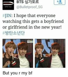 Nah, Jungkookie is my bf and Eomma Jin is my mother in law