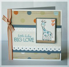 Cute baby scrapbook idea