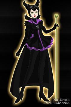 Maleficent ~ by Belnika ~ created using the Sailor Senshi doll maker | DollDivine.com