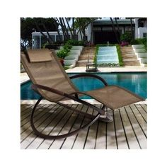 The Coolest Outdoor Chaise Rocking Patio Chair. Oversized European Inspired Rock Chair  sc 1 st  Pinterest & 48 best Cool Patio Decor Accessories images on Pinterest | Exterior ...