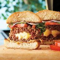 cheddar & bacon stuffed burger