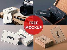 55+ Free #businesscard #mockups