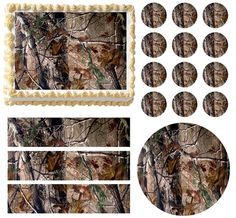 REALTREE REAL TREE CAMO Print Edible Cake Topper Frosting Sheet - All Sizes!