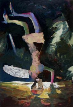popgoesred:  Beezy Bailey FALLEN ANGEL, 2006 / oil, enamel & chipboard on canvas / 250 x 170cm