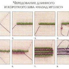 Разновидности шва *Назад в иголку* для вышивки бисером - пособие для начинающих. Обсуждение на LiveInternet - Российский Сервис Онлайн-Дневников