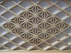 Asa-no-ha (麻の葉) and diamond (菱形) patterns.