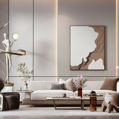 Home Living Room, Interior Design Living Room, Living Room Designs, Interior Design Gallery, Living Room Decor Inspiration, Decoration, Villa, Ideas, Minimalist House Furniture