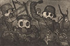 Otto Dix - Storm Troopers Advancing Under Gas