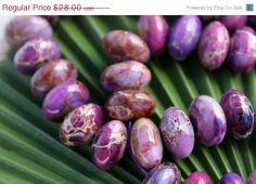 ON SALE #Large #Purple #Impression #Jasper #Beads by BeadyEyedBird, $22.40