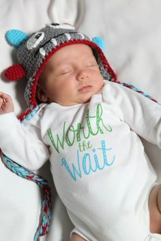 Worth the Wait Baby Boy Onesie @Lauren Martin Definitey crying right now!! We need a gender announcement ASAP so I can start buying clothes for little Martin!