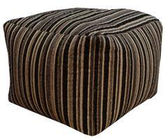 Sedum Striped Black Bean Bag Cube | Departments | DIY at B&Q