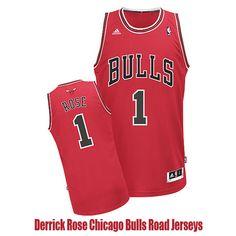 Derrick Rose Chicago Bulls Road Jerseys