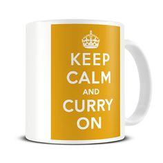 Magoo Keep Calm and Curry On Funny Mug – gift for curry lovers Nurse Mugs, Nurse Gifts, Keep Calm Mugs, Funny Mugs, Gifts In A Mug, Curry, Lovers, Amazon, Kitchen