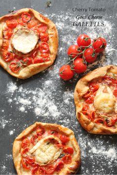 Cherry Tomato & Goat Cheese Galettes | Blueberry Kitchen