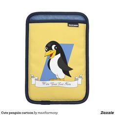 Cute penguin cartoon iPad mini sleeve