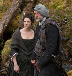 "Caitriona Balfe as Claire Randall and Graham McTavish in Episode 105 ""Rent"" from Outlander on Starz Diana Gabaldon Outlander Series, Outlander Season 1, Outlander Casting, Outlander Tv Series, Starz Outlander, Outlander Quotes, Claire Fraser, Jamie Fraser, Movies"