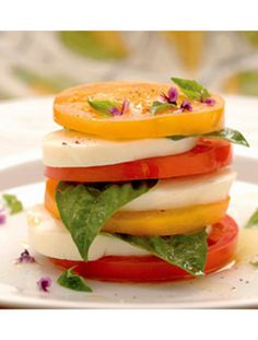 Mozzarella, Tomato, and Basil Salad #healthy #recipe
