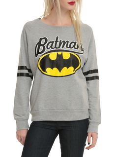 Batman Grey Girls Pullover Top. GOTTA HAVE!