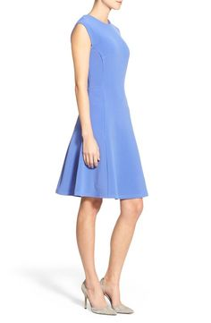 Halogen Ottoman Knit fit and flare dress -- gorgeous shape and color, under $100!