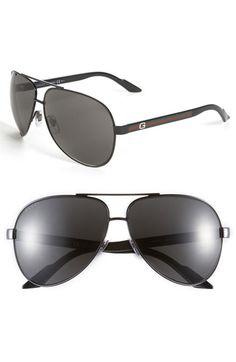 b2bd8d89a06 Gucci Metal 63mm Aviator Sunglasses