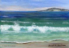 Seascape 1 ACEO Ocean Sea Waves Beach Original Seascape ACEO acrylic painting