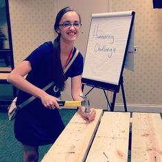 Saturday night #YLC2012 hammering challenge via @nikkikat925
