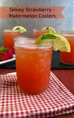 Skinny Strawberry-Watermelon Coolers - Miss in the Kitchen for Mom it Forward