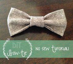 No Sew: Baby Bow-tie Tutorial